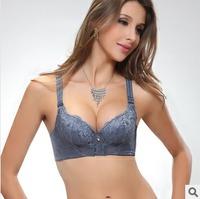 free shipping thicken anterior cingulate adjustment super gather push up bra massage bras lingerie underwear