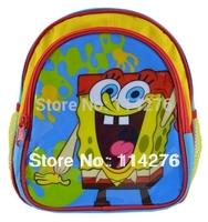 sponge bob backpack little boy school bag cute carton baby backpack free shipping HSBO1002