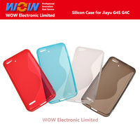 Newest Good High Quality Silicone Case For JIAYU G4 G4C G4S 3000mAh Smartphones,Transparent  Gray, White Blue and Red