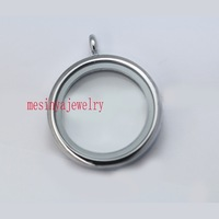 10pcs best quality 30mm strong magnetic glass locket for floating charms xmas gift , floating charms and plate not included