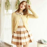 2014 New winter skirts high waist striped bitter fleabane princess skirt Z45047 Free Shipping