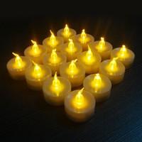 18pcs Wholesale Led Tea Lights Candles Amazing Birthday Candle Yellow Candle Wicks Velas Decorativas Home Decoration