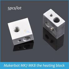 Supernova Sale Promotion 5pcs/lot Makerbot MK7/MK8 the heating head/heating block for 3 D printer free shipping