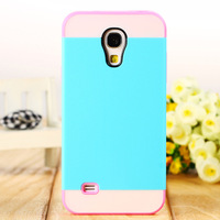 Free shipping Fashion Hybrid color Hard back cover TPU phone skin cover case for Samsung S4 mini i9190 9195