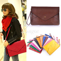 PU Leather Envelope Clutch Shoulder Messenger Tote Purse Cross Body Handbag Bag Purses