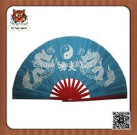Chinese traditional double gragon bamboo folding kung fu fan