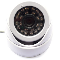 Lowest price with Free Shipping,1/3'' Cmos 480tvl dome cctv camera,3.6mm len,24 led,20M infrared Night Vision Surveillance