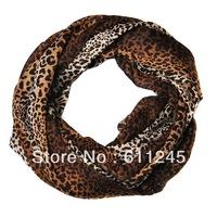 Min order is usd15.0(mix order) Fashion New Stylish Kid/Children Leopard Dot Animal Print Cotton Circle Scarf Shawl