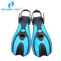 Scuba Diving Short Fins Diving Flippers Diving Fins Silicone Professional Diving Equipment Blue