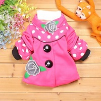 1 Set Retail, The girls warm winter coat. Hot Children's coat (High quality, the girls coat Children's clothes, girls jacket,