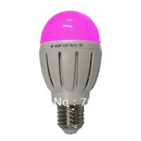 Free shipping B22 E26 E27 base 6w  RGBW LED bulb control on Iphone (1 bulb and 1 WIFI Control as a set)