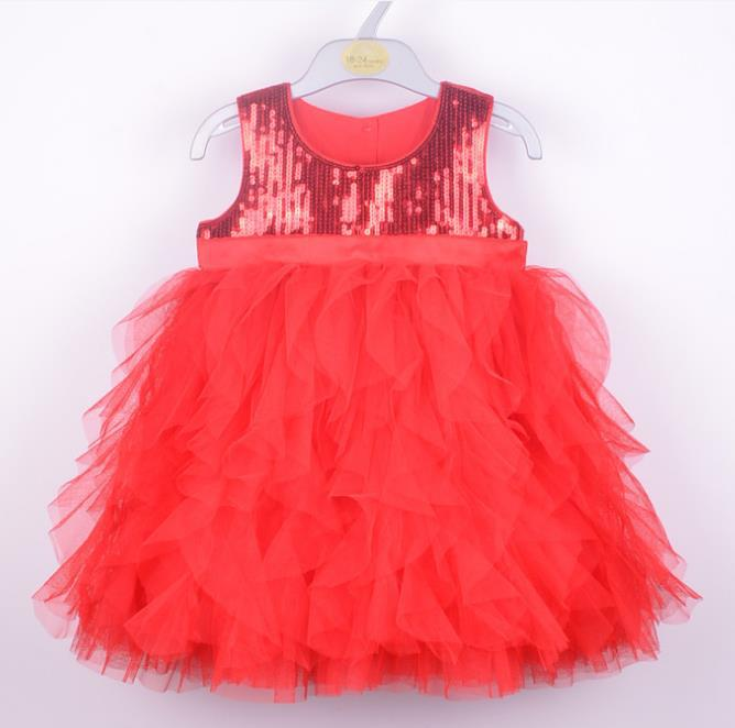 New 2013 baby girl princess dress children lace dresses for Christmas kids tutu clothes for autumn -summer 2colors for 3T-6T(China (Mainland))