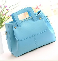 2014 fashion women handbag Korean diagonal cross pattern  women messenger bag famous brand bag top handles purse