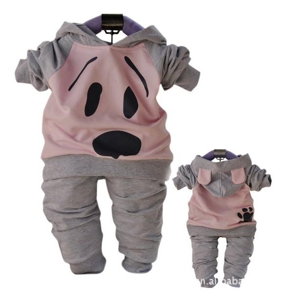 Hot !!! Babyrow Brand + Baby Clothing Set For Girls (Shirt+Pants) + Children Clothes + Kids Garments + Free Shipping(China (Mainland))