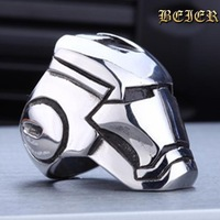 Big Iron Man ring Factory  Cheap Titanium Unique Stainless Steel Jewelry  Free Shipping Brazil USA TGGTX001 US size