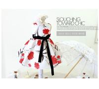 Free Shipping! 2014 New Summer Children beautiful flower princess Dress Baby Cute Dress with belt Kids Fashion Dress