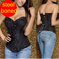 Steel boned corset  Sexy Waist training corsets  women hot shapers body intimates corsets and bustiers bustier top