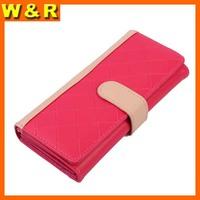 Fashion patchwork woman card holder luxury purse plaid hasp change woman wallet