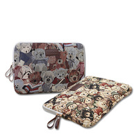 Cute Winnie the Pooh Teddy Bear notebook laptop sleeve bag 11 12 13 14 15.6 inch case cover for MacBook air pro 11.6 13.3