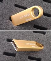 Supper mini tiny U Disk pen drive Real capacity 64GB USB2.0 golden USB Flash 8GB 16GB 32GB  usb Flash Drive memory stick Gift