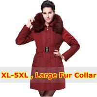 Belt Rabbit Fur Hood Quinquagenarian Plus Size Duck Down Jacket Winter Coat Women Down & Parkas Mother Clothing Female Outwear