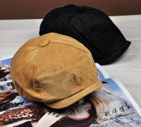 2014 hot selling Ineaco vintage corduroy cap painter cap octagonal cap