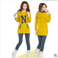 2013 New Large Size Women Thick Fleece Sweater Korean Version Of Casual Winter Sports Cotton Pullover Sweater S-4XL 3 Colors