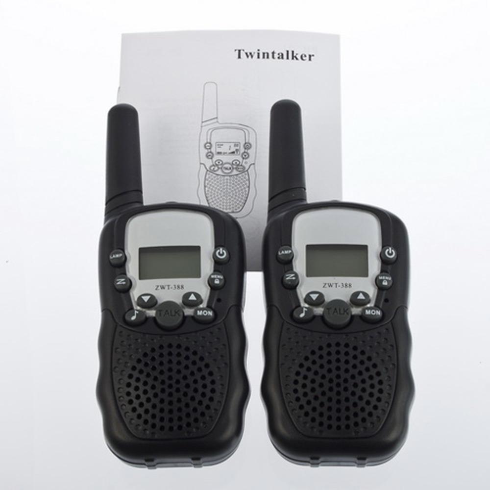 T-388 2pcs/set High Quality Monitor Function Mini Multi Channels 2-Way Radio Travel Walkie Talkie Hot Sale!(China (Mainland))