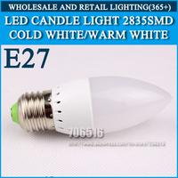 10pcs/lot LED candle light 2835SMD bulb lamp High brightness bulbs 3W 4W 5W E27 AC220V 230V 240V Cold white/warm white