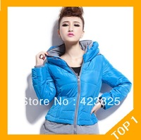 2013 Free shipping wholesale new fashion hot selling Slim Thickening Women Winter Warm Padded Coat  Outerwear Down Jacket L -XXL