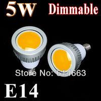 5pcs/lot 5w/7w/9w LED COB SpotLight Bulb lamp Lighting Epistar e14 E27 GU10 Cool White/Warm White dimmable  AC85-265V