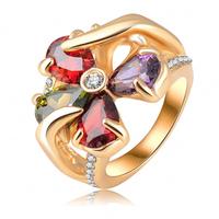 New Arrival Fashion Brand Rings 18K Rose Gold Plating Romantic Flower Shape Rings Austrian Crystal Engagement Rings  RIN078