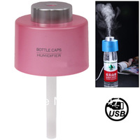 Newest Style USB Bottle Caps Aroma Diffuser Mist Maker Air Humidifier (Yellow/Blue/White/Pink)