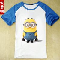 new fashion Despicable me 2 children T-shirt Minions t-shirts Children's wear cotton combed cotton clothes medium