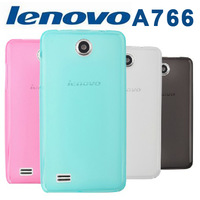 Free shipping For Lenovo A766 silicon case Colorful case TPU  For A766 ( Gray / Blue / Red / White )