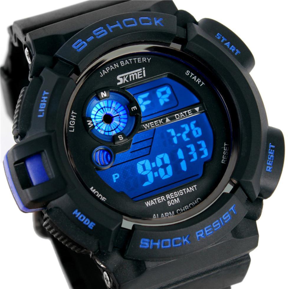 relogio digital Sport Watches 30M Waterproof Multifunction Climbing Dive LCD Digital Watches men's Wristwatch(China (Mainland))