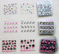 90 Sheets 3D Design Tip Nail Art Sticker Decal Manicure Mix Color Flower