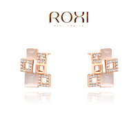 HSTORE Christmas luxury opals Earrings,rose gold glated Austrian crystals 100% handmade fashion jewelry,2020040655