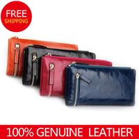 hot bestselling 2014  women wallets  cowhide zipper coin purse lovers genuine leather cowhide fashion designer