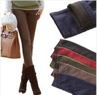 2014 New women's thicken warm trouser pant Korean fashion casual slim female plus size pencil pants women 7 colors S-XXXL LC0092