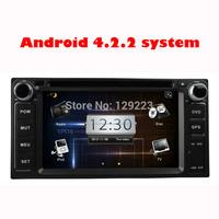 DHL Touch Screen Android 4.2.2  CAR DVD For Toyota univerasal avanza fortuner prado terios Land Cruiser rav4 corolla vios hilux