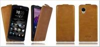 Akira Handmade Genuine Real Leather Flip Case Cover Skin for Google LG nexus 5 leather case