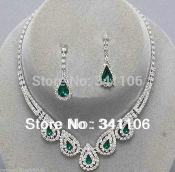 2014 Teardrop Imitated Gemstone Crystal Wedding Bridal Jewelry Sets African Jewelry ...