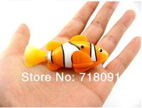 4PCS/LOT,Drop Free Shipping,Swimming Clownfish,Magical Electronic Toys,Robot Fish,7.6x3.4cm,4 Colors
