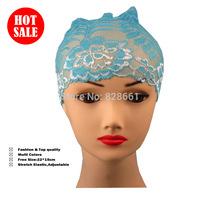 Muslim Ummah hijab underscarf  lace tube inner Cap,(12 pcs /lot) +free shipping