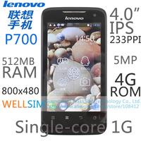 "Original   Lenovo P700 Multi language Mobile phone 4""IPS 800x480 Single-core1G 512MB RAM 4G ROM  Android 4.0 5MP"