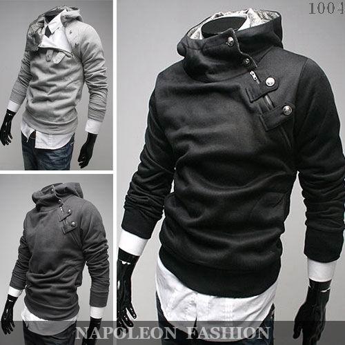 Free Shipping 2012 NEW Hot High Collar Men's Jackets ,Men's Sweatshirt,Dust Coat ,Hoodies Clothes,cotton wholesale(China (Mainland))
