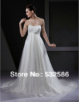 Net yarn fabrics trailing sweetheart collar lace  Wedding Dress  You're worth it