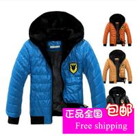 Winter Children's Outerwear Velvet thickening Boys Cotton-padded Jackets Waterproof PU Leather Male Child Outerwear