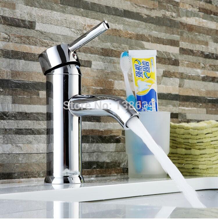 شحن مجاني واحد كروم مقبض صنبور الحمام الانتهاء، الاسلوب المناسب النحاس خلاط حوض الصنبور، bathrom صنبور مع نوعية جيدة